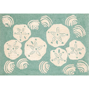 Frontporch Shell Toss Aqua Rectangular: 5 Ft. x 7 Ft. 6 In. Rug