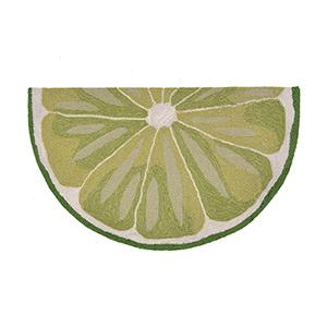 Liora Manne Frontporch Green Slice: 2 Ft. 6 In. x 2 Ft. Indoor/Outdoor Rug