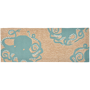 Liora Manne Frontporch Blue Runner: 2 Ft. 3 In. x 6 Ft. Indoor/Outdoor Rug