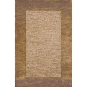 Madrid Border Brown Square 5 Ft. x 8 Ft. Rug