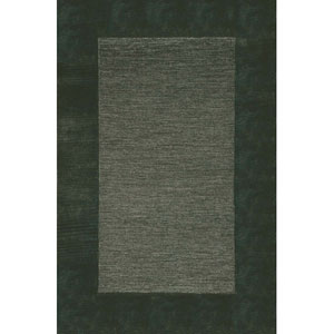 Madrid Border Charcoal Square 5 Ft. x 8 Ft. Rug