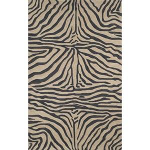 Ravella Zebra Black Rectangular: 5 ft. x 7 ft. 6 In. Rug
