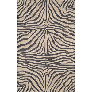 Ravella Zebra Black Rectangular: 8 Ft. 3 In. x 11 Ft. 6 In. Indoor/Outdoor Rug