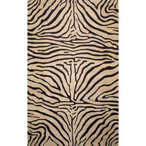 Seville Zebra Neutral Rectangular 5 Ft. x 8 Ft. Rug