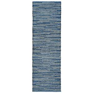 Liora Manne Sahara Blue Runner: 2 Ft. x 8 Ft. Indoor/Outdoor Rug