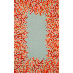 Spello Coral Border Orange Rectangular: 5 Ft. x 7 Ft. 6 In. Rug