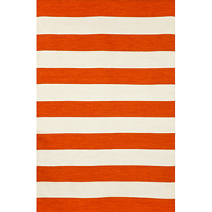 Sorrento Indoor/Outdoor Rugby Stripe Paprika Rectangular: 5 Ft. x 7 Ft. 6 In. Indoor/Outdoor Rug