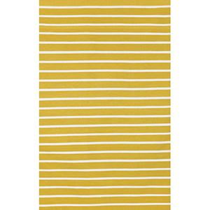 Sorrento Pinstripe Yellow Rectangular: 5 Ft. x 7 Ft. 6 In. Indoor/Outdoor Rug