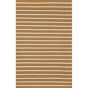 Sorrento Pinstripe Khaki Rectangular: 5 Ft. x 7 Ft. 6 In. Indoor/Outdoor Rug