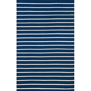 Sorrento Pinstripe Navy Rectangular: 5 Ft. x 7 Ft. 6 In. Indoor/Outdoor Rug