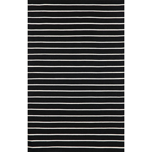 Sorrento Pinstripe Black Rectangular: 5 Ft. x 7 Ft. 6 In. Indoor/Outdoor Rug