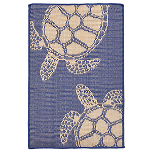 Liora Manne Terrace Navy Rectangular: 2 Ft. x 3 Ft. Indoor/Outdoor Rug