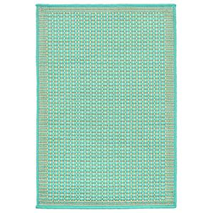 Liora Manne Terrace Blue Rectangular: 2 Ft. x 3 Ft. Indoor/Outdoor Rug