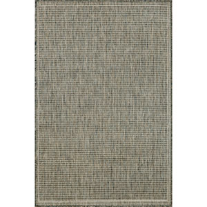 Terrace Texture Silver/Ivory Rectangular: 4 Ft. 11 In. x 7 Ft. 6 In. Rug
