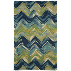 Tivoli Chevron Blue Rectangular: 3 Ft 6 In x 5 Ft 6 In Rug