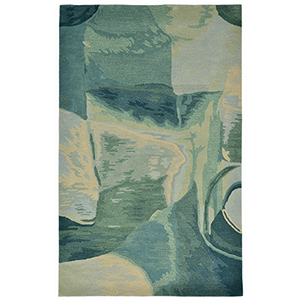 Liora Manne Tivoli Blue Rectangular: 3 Ft. 6 In. In. x 5 Ft. 6 In. Rug