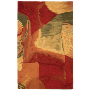 Tivoli Sonia Red Rectangular: 3 Ft 6 In x 5 Ft 6 In Rug