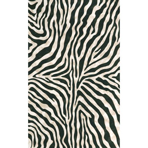 Visions I Zebra Black Indoor/Outdoor Rectangular: 5 Ft. x 8 Ft. Rug