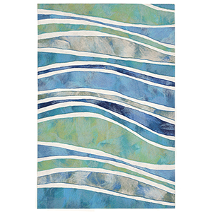 Liora Manne Visions III Blue Rectangular: 2 Ft. x 3 Ft. Indoor/Outdoor Rug
