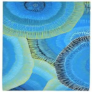 Liora Manne Visions IV Blue Rectangular: 5 Ft. x 8 Ft. Indoor/Outdoor Rug