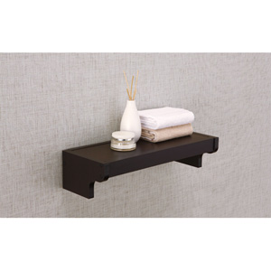 Ambassador Espresso Wall Mounting Shelf