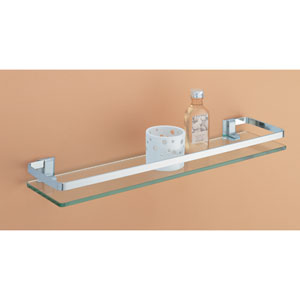 Glass Shelf with Nickel Rail