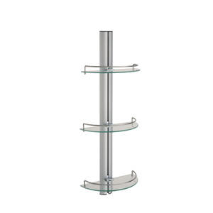 Aluminum Three-Tier Glass Shelf