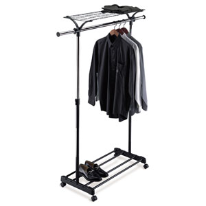 Adjustable Garment Rack with Shelf