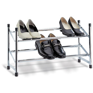 Chrome Expandable Shoe Rack
