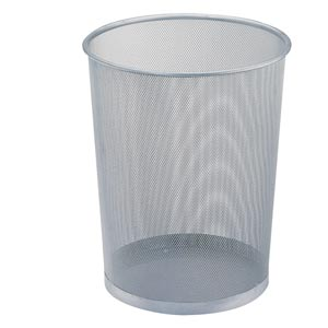 Mesh Set of Twelve Mesh Wastebaskets