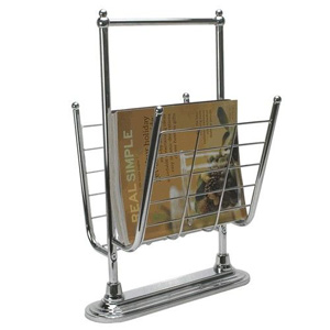 Chrome Free Standing Magazine Rack