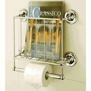 Gold Estate Magazine Rack with Toilet Paper Holder