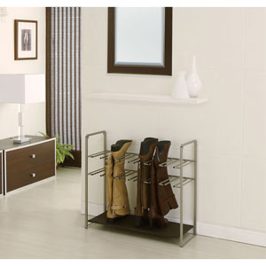 Dark Gray Stackable Boot Storage Rack