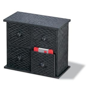 Charcoal Set of Six Desktop Cubbies