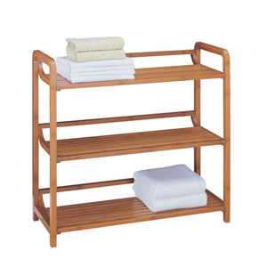 Bamboo Three-Tier Shelf