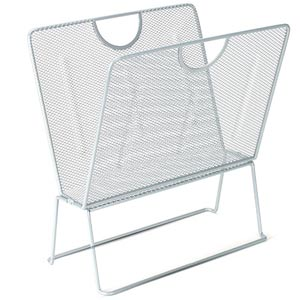 Mesh Set of Six Folding Magazine Racks