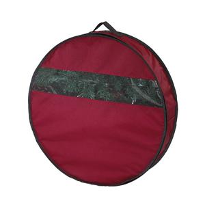Red 24-Inch Wreath Storage Bag