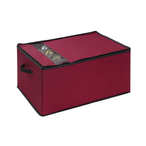 Red Christmas Ornament Storage Box
