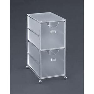 Acrylic Two-Drawer Acrylic Bin