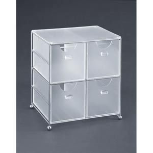 Acrylic Four Drawer Acrylic Bin