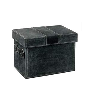 Neu Home Charcoal Faux Leather Document Box
