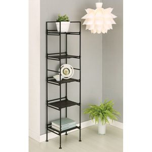 Espresso Ebonize Five-Tier Square Shelf