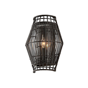Punters Point Dark Espresso Wall Sconce with Transparent Glass