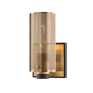 Pilsen Modern Bronze And Aged Brass One-Light Wall Sconce