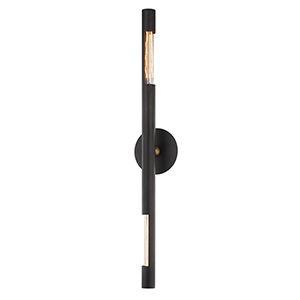 Hendrix Chemical Bronze Six-Inch Two-Light Wall Sconce