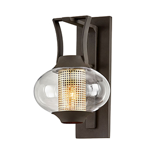 Horton Texture Bronze Nine-Inch One-Light Wall Sconce
