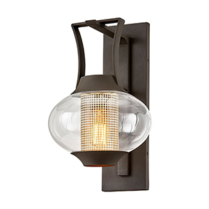 Horton Texture Bronze 11-Inch One-Light Wall Sconce