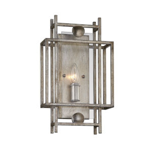 Crosby Antique Silver One-Light ADA Wall Sconce