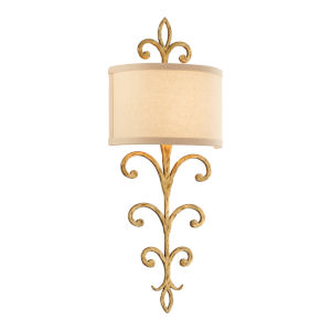Crawford Gold Two-Light Wall Sconce