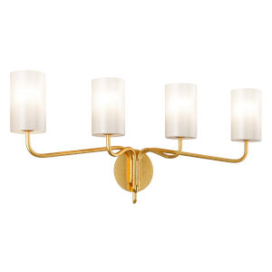 Juniper Textured Gold Four-Light Bath Vanity